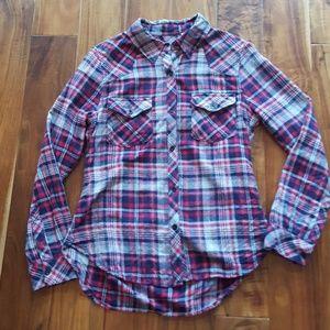 True Grit Flannel Plaid Button Down